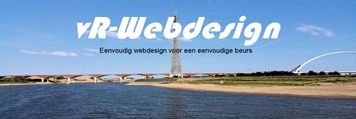 vR-Webdesign<br>Eenvoudig webdesign voor een eenvoudige beurs